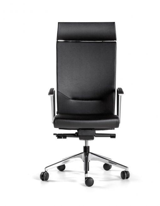 silla negra kados bases y brazos de aluminio