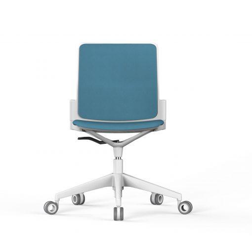 silla oficina con ruedas azul claro