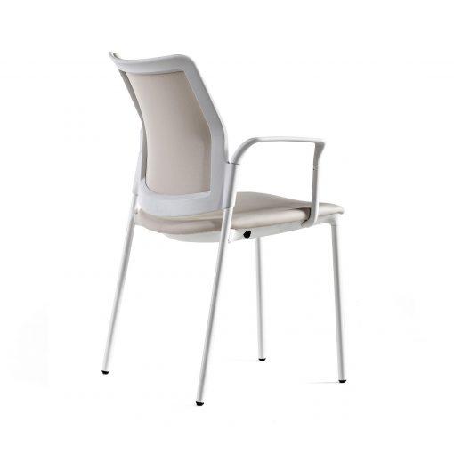 silla urban actiu cuatro patas blanca