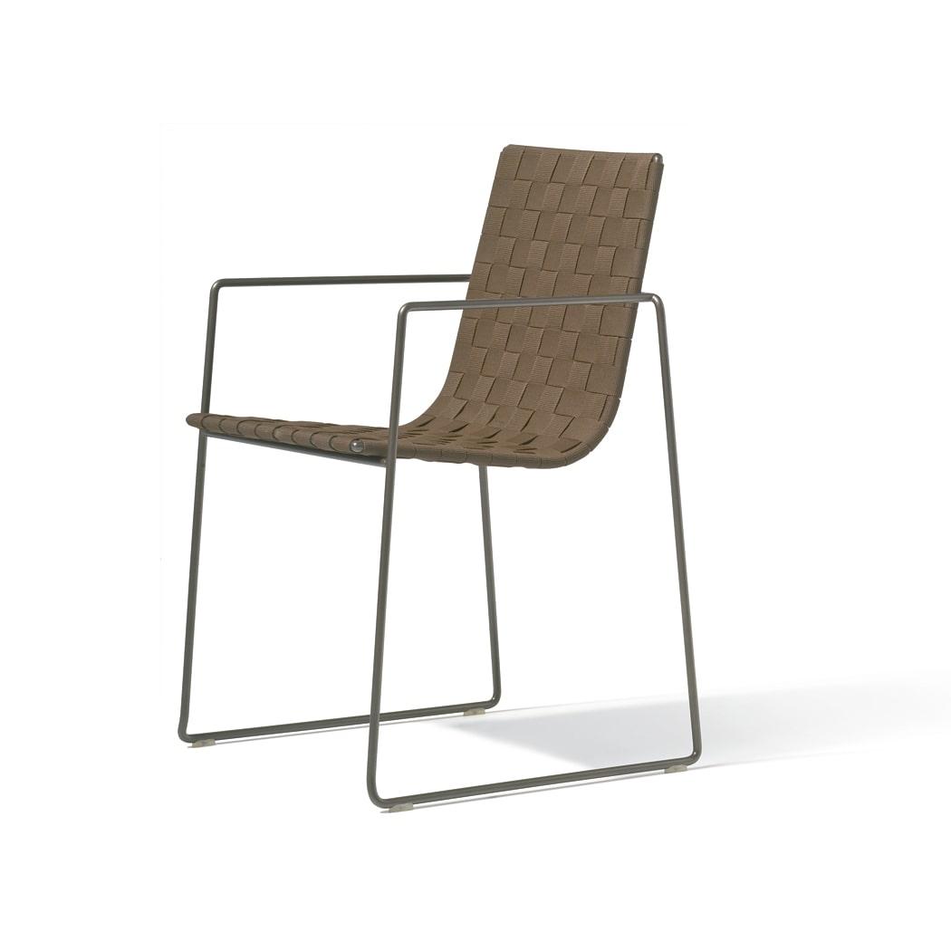 silla marron para exterior